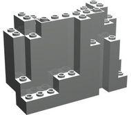 6082-9G Rechthoekig rotsstuk (BURP) LET OP: Kan niet door brievenbus, pakketzending lichtgrijs (klassiek) gebruikt *5D0000