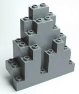6083-86 Driehoekig rotsstuk (LURP) grijs, licht (blauwachtig) NIEUW *5D0000