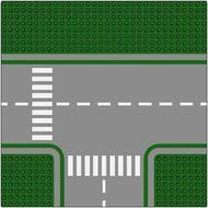 612p01-6G Wegenplaat 32x32 splitsing MET fietspad LET OP GROEN!! Groen gebruikt loc