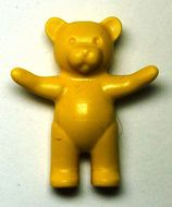 6186-3 Teddybeer (Belville) (voorpoten omhoog) geel NIEUW *0D000