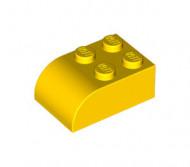 6215-3 Steen 2x3 afgeronde top 4 noppen geel NIEUW *