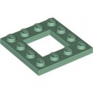 64799-48 Platte plaat 4x4 met gat 2x2 groen, zandkleurig NIEUW *1L0000