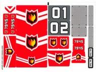 7945stk01 STICKER Brandweerstation NIEUW *0S0000