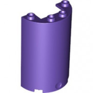 85941-89 Cylinder, half 2x4x5 met 1x2 uitsnede paars, donker NIEUW *