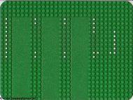 915p01-6G Basisplaat 24x32 sterk afgeronde hoek (classic) met drie opritten (GARAGE) Groen gebruikt loc
