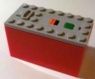 87513c02-86 Batterijbox 9V PF voor batterijen RODE BODEM(LET OP: PAKKETZENDING) Grijs, licht-blwachtig NIEUW loc