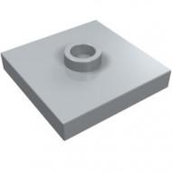 87580-86 Platte plaat 2x2 1 centrale nop grijs, licht (blauwachtig) NIEUW *1L235