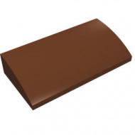88930-88G Dakpan gebogen 2x4x2/3 geen noppen, MET bodemtubes bruin, roodachtig gebruikt *1R028