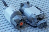 99499-86 Motor 9V Power Functions L Grijs, lichtblauwachtig NIEUW loc