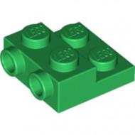 99206-6 Platte plaat 2x2x2/3 met 2 noppen zijkant groen NIEUW *1L0000