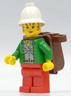 adv044G Miss Gail Storm (Jungle) met pith helm, Backpack gebruikt loc