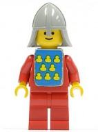 cas088sG Geel kasteel - Rode ridder met schild gebruikt *0M0000