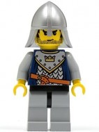 cas360G Fantasy Era- Knecht met kroon op harnas, helm met nekbescherming gebruikt loc