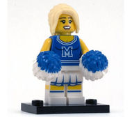 col01-2 Cheerleader met pompoenen en standaard NIEUW *0M0000