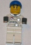cty0226G Spaceport, ruimtepak met blauwe pet bruine swenkbrauwen gebruikt loc