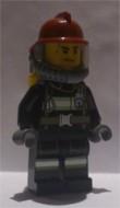cty348 Brandweerman reflectiestrepen donkerrode helm gele luchttank NIEUW loc