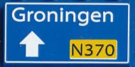 CUS1096 Routebord Groningen N370 (2x4) blauw NIEUW *0A000