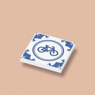 CUS3040 Tegel 2x2 Delfts Blauw - Fiets wit NIEUW *0A000