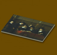 CUS4008 12 tegels 2x2 De Staalmeesters- Rembrandt van Rijn wit NIEUW *0A000