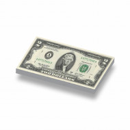 CUS7001 Tegel 1x2 Biljet 2 dollar geel *0A000