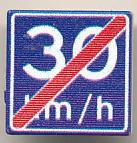 CUSE8193 Tegel MET CLIP Einde Adviessnelheid 30 km/u *0A000