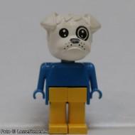fab2dG Bulldog 4- Blaue lichaam, gele broek, wit hoofd gebruikt *2R0000