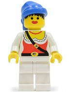 pi056G Piraat female, blauw Rag Hat gebruikt *0M0000