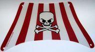 sailbb42-99 Zeil piratenschip vierkant met doodshoofd grijs, zeer licht (blauwachtig) NIEUW *5D000