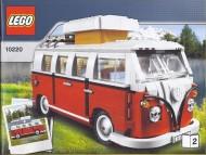 Set 10220 BOUWBESCHRIJVING- Volkswagen T1 camper gebruikt loc