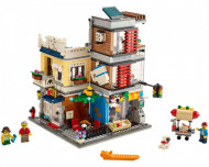 Set 31097-GB Townhouse Pet Shop & Café gebruikt deels gebouwd *B036