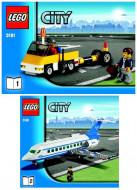 Set 31781 BOUWBESCHRIJVING- Passagiersvliegtuig Auto gebruikt loc LOC BE