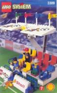 Set 3309 BOUWBESCHRIJVING- Voetbal Hoofdtribune gebruikt loc LOC M1