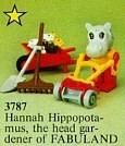 Set 3787-G - Fabuland: Nanah Hippotamus the public gardener -/-/100%- gebruikt