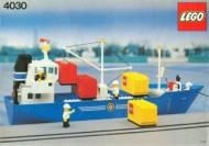 Set 4030 BOUWBESCHRIJVING- Containerschip Politie Boot gebruikt loc