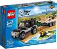 Set 60058 - Town: SUV met speedboat- Nieuw