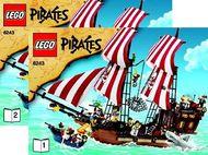 Set 6243 BOUWBESCHRIJVING- Piraten II: Brickbeard's Bounty Piraten NIEUW loc