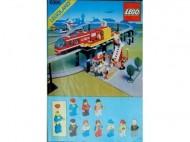 Set 6399 BOUWBESCHRIJVING- Airport Shuttle Kreukels en uitklappag. Geplakt gebruikt loc LOC M2