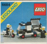 Set 6684 BOUWBESCHRIJVING- Police Patrol Squad Helikopter gebruikt loc LOC M3