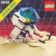 Set 6848 BOUWBESCHRIJVING- Futuron: Strategic Pursuer  gebruikt loc
