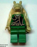 sw013G Star Wars:Gungan Soldier (groen/zwart vest) gebruikt *0M0000
