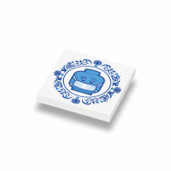 Tegel 2x2 Delfts Blauw- Mondkapje