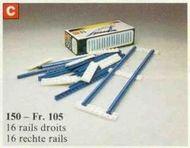 Treinen Rechte blauwe rails geseald-Nieuw