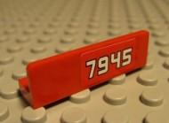 """30413pb008R-5G Paneel 1x4 """"7945"""" rechts Rood grbruikt loc"""