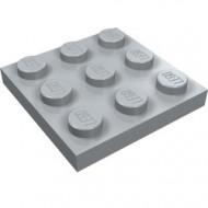 11212-86 Platte plaat 3x3 grijs, licht (blauwachtig) NIEUW *5K0000