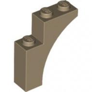 13965-69 Steen, halve boog 1x3x3 (hoger model) (trapsgewijs) crème,donker NIEUW *1L257