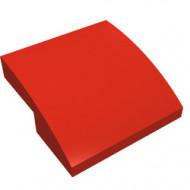15068-5G Dakpan rond 2x2x2/3 geen noppen afgerond rood gebruikt *1L278