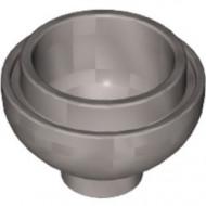 15395-95 Steen, 2x2x1 dome BODEM zilver, mat NIEUW *1L000