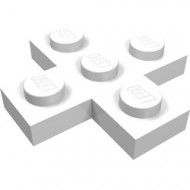 15397-1 Platte plaat 3x3 kruis wit NIEUW *1L0000