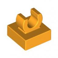 15712-110 Tegel 1x1 met clip bovenop afgeronde hoeken oranje, lichthelder NIEUW *1L288/4