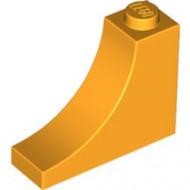 18653-110 Steen,omgekeerde halve boog 1x3x2 oranje, lichthelder NIEUW *